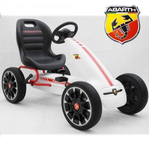 Official Fiat Abarth Kids Pedal Go Kart with EVA Tyres