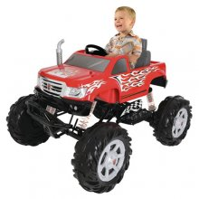 Kids 24v Electric Ride On Monster Truck with Shocks