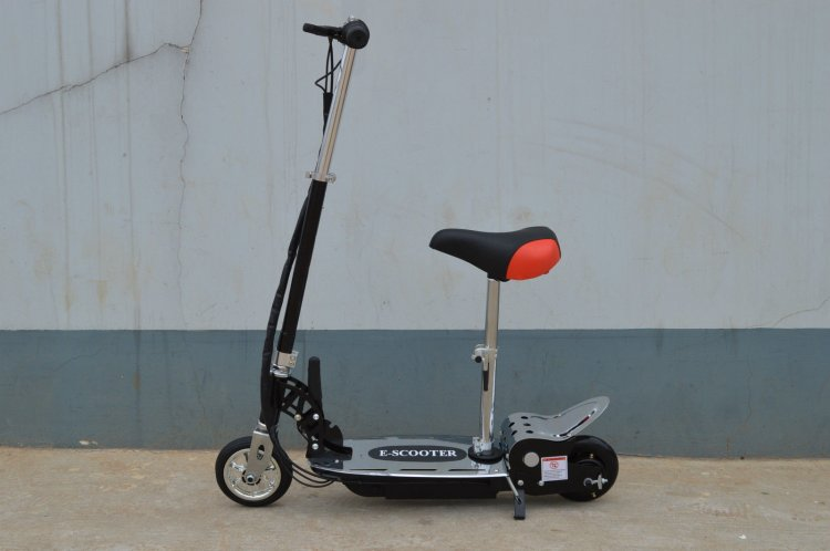 24v 140 Watt Sit On Adjustable Removable Seat E-Scooter - Click Image to Close