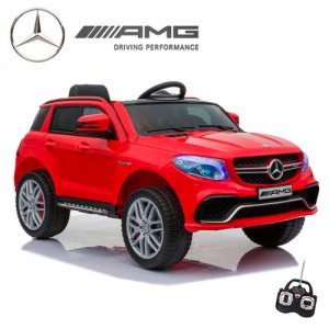 Kids Compact Mercedes 12v Red GLE63 Ride On SUV