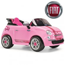 Licensed Fiat 500 Girls 6v Pink Ride On Car