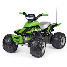 12V Premium Peg Perego Corral T-Rex Kids Green Quad Bike