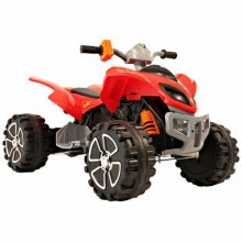 Red & Black 12v Mega Quads Kids Quad Bike