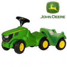 John Deere Scoot Along Kids Tractor & Trailer