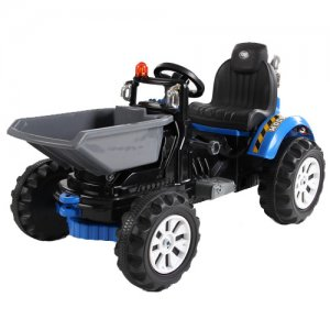 12v Electric Ride On Dumper Truck Tractor With Tipping Bucket