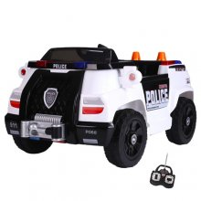 6v Kids Compact Police Ride On Car with Parental Remote