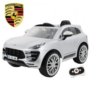 Licensed Porsche Macan Silver 12v Kids SUV Ride On Jeep