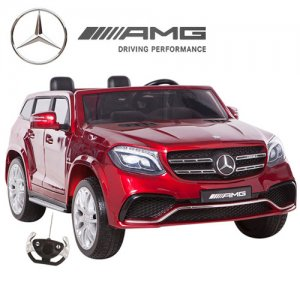 Metallic Red 24v 2 Seat Mercedes GLS 4WD Kids Jeep