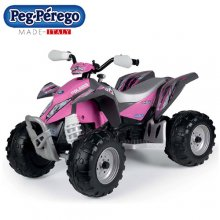Kids 12v Pink Off Road Peg Perego Ride On Quad Bike