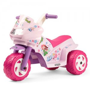 6v Fairy Princess Girls Pink Ride On Peg Perego Trike