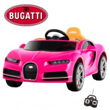 Official Pink Bugatti Chiron 12v Kids Ride On Super Car