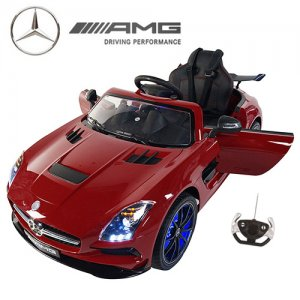 Official 12v Red Mercedes SLS AMG Ride On Car with EVA Tyres