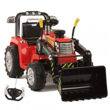 12v Battery Ride On Tractor With Loader Bucket & Remote