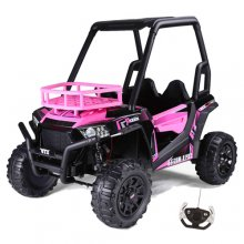 Girls 24v Pink 2 Seat Ride In Off Road Buggy with Roll Cage