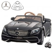 Licensed Black S650 Mercedes Maybach 12v EVA Kids Ride On