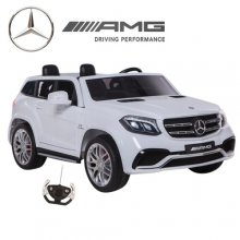 Ice White 24v 2 Seat Mercedes GLS 4WD Kids Jeep