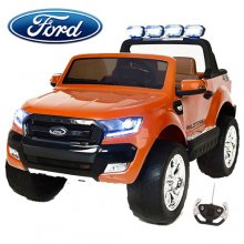 Orange 24v Two Seat Kids 2020 Ford Ranger with EVA & Remote
