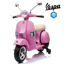 Official Piaggio Vespa Retro Pink 12v Electric Kids Moped
