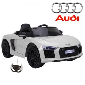 XL White Official Audi R8 Kids Ride On 12v Car