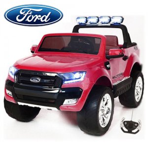 24v Deep Pink EVA Tyre Official Ford Ranger Kids 4WD Jeep
