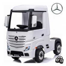 Mercedes Actros White Truck 24V Kids Ride on Lorry