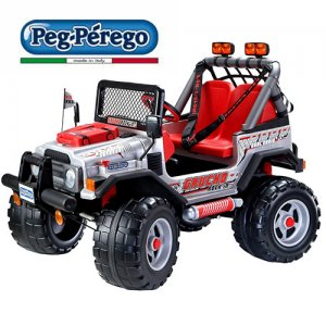 Peg Perego Rocky Premium Kids 12v Ride On SUV Jeep