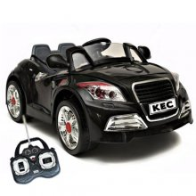 12V Black Twin Motor Audi TT Style Car, Remote, MP3 Player