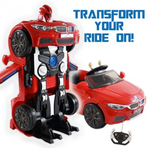 Optimus Prime Transformers Style Kids 12v Robot Car