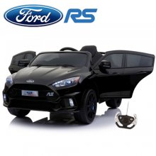 Jet Black Ford Focus RS 12v Kids Licensed Ride On Hot Hatch Car