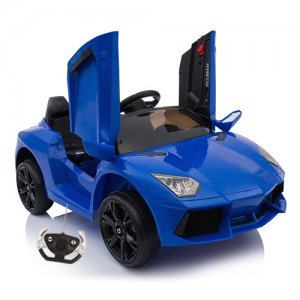 Lambo Style Blue Spyder 12v Ride On Car with Doors