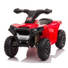 Super Value Red 6v Micro Sit On Battery Powered Quad With Lights
