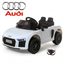 Compact Kids White Official Audi R8 12v Electric Car