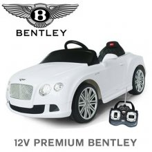 Official 12v Premium White Bentley Continental Kids Ride On Car
