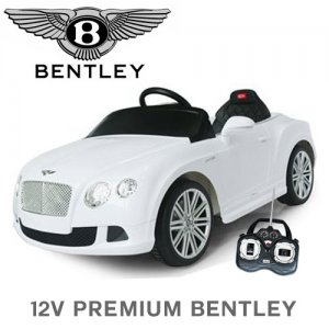 12v White Bentley Continental Ride Car with Remote Control