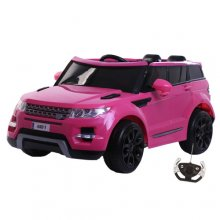 Kids Fuschia Pink 12v Electric Ride On Jeep with Doors