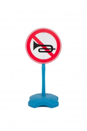 No Horn Kids Educational-Play Traffic Road Sign