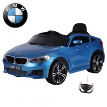Metallic Blue BMW GT Series 12v Kids Electric Ride On Coupe Car