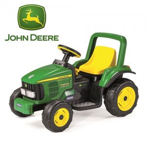 6v Stumpy John Deere Electric Powered Sit-on Tractor Toy 2+