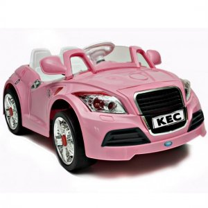 Pink 12V Two Motor Audi TT Style Car, Remote, MP3 Player