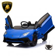 Blue Official Lamborghini SV 12v Aventador Kids Super Car