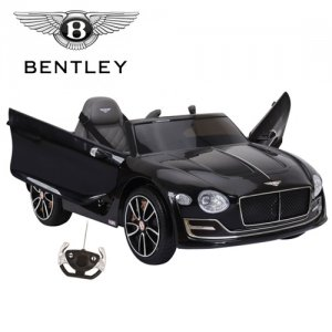 Official Black 12v Bentley EXP-12 Electric Ride On Kids Car