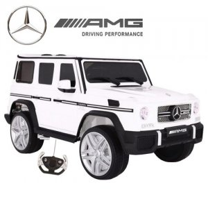 12v Licensed Ice White Mercedes G65 Kids Electric Jeep