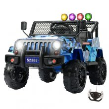 Kids Camo Blue 12v Xscape Off Road Style SUV Jeep