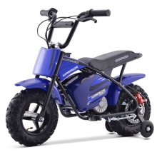 Upgraded 24v Kids Blue 2021 Off Road Retro Monkey Bike