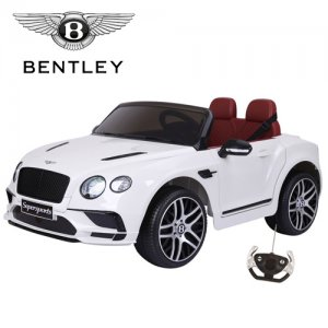 Official 12v White New Shape Bentley GT Kids Electric Car