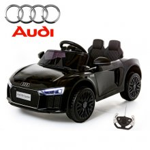 Compact Jet Black Licensed Audi R8 Kids 12v Coupe