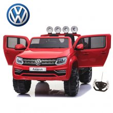 12v Kids Red VW Amarok Jeep with EVA Wheels & Leather Seat