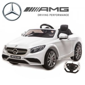 Limited Edition White Licensed Mercedes S63 Kids 12v Car