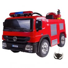 Kids 12v Electric Ride On Fire Engine Truck with Remote