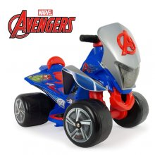 Licensed Marvel Avengers Kids 6v Electric Ride On Quad Bike